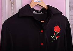 Черная стильная туника для полных Роза, фото 3