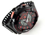 Часы мужские G-Shock - мультифункциональные, черные в прозрачном тубусе