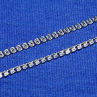Срібний ланцюжок Лав панцирне плетіння 50 см 90123103541, фото 1