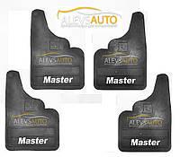 Брызговики прямые комплект  (4 шт, резина) - Renault Master (1997-2007)