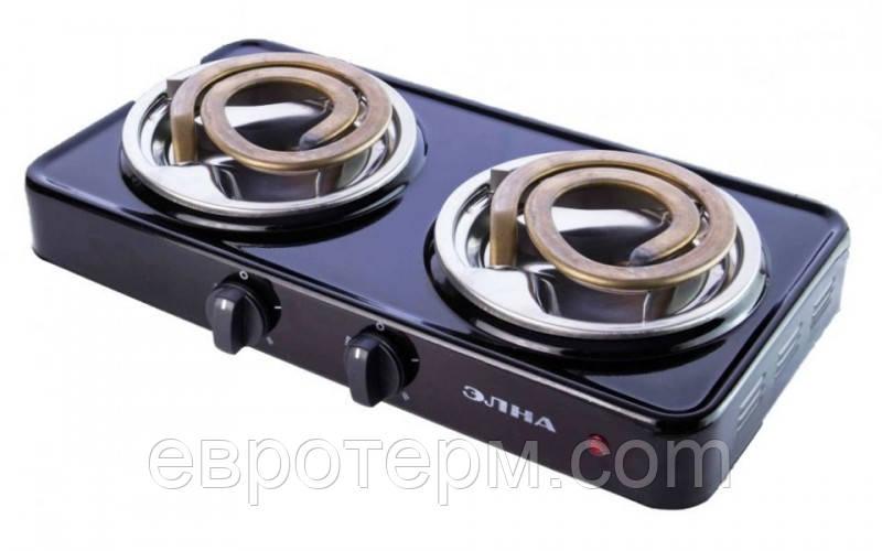 Электрическая плита Элна двухконфорочная спиральная широкий тен