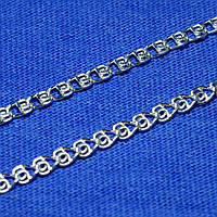 Панцирная цепь из серебра Сердечки 45 см 90123105041, фото 1
