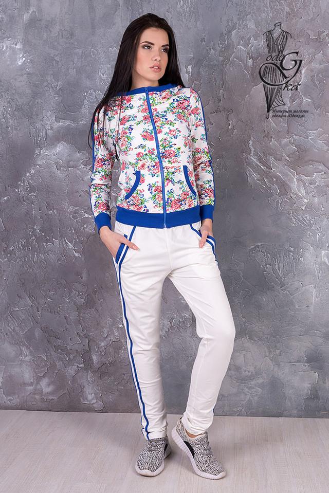 Фото Женского спортивного костюма с цветочным принтом Джессика