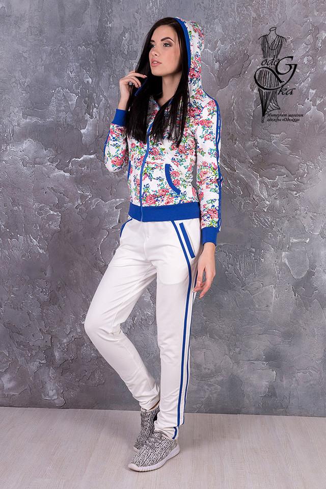 Фото-1 Женского спортивного костюма с цветочным принтом Джессика