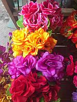 Роза, Розы, Искусственный букет, тканевый цветок, разные цвета в упаковке