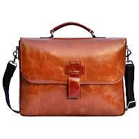 Мужская сумка через плечо Issa Hara 3635 red brown