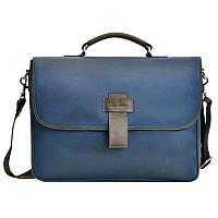 Мужская сумка через плечо Issa Hara 3636 синяя