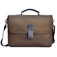 Мужская сумка через плечо Issa Hara 3637 коричневая