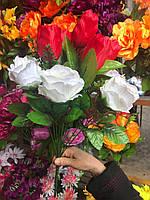 Искусственные цветы, Розы и тюльпаны, разные цвета в упаковке
