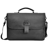 Мужская сумка через плечо Issa Hara 3638 черная