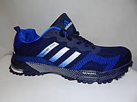 кроссовки мужские Adidas Marathon Flyknit темно синие , фото 1