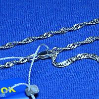 Серебряный браслет на ногу Сингапур 25 см 90427204051