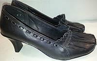 Туфли женские натуральная кожа р36 LEAL 2215 черные TONI