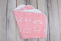 Непромокаемая пеленка 60*80, Мишка и друзья розовая, фото 1