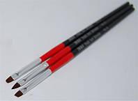 Набор кистей красно-черная ручка 3шт NK-27 YRE