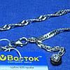 Серебряный браслет с цирконом (ножной) 27 см 90427205051