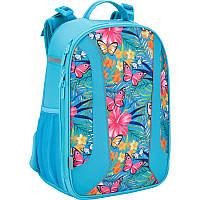 Рюкзак школьный каркасный  703 Tropical flower