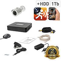 AHD Комплект видеонаблюдения для быстрой установки Tecsar 1OUT + HDD 1Tb