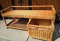 Плетеная лавка диван с ящиком для обуви, фото 1