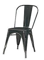 Стул винтажный обеденный TOLIX CHAIR D-1 Толикс D-1 стальной каркас черного цвета, стиль лофт, Tolix Chair А