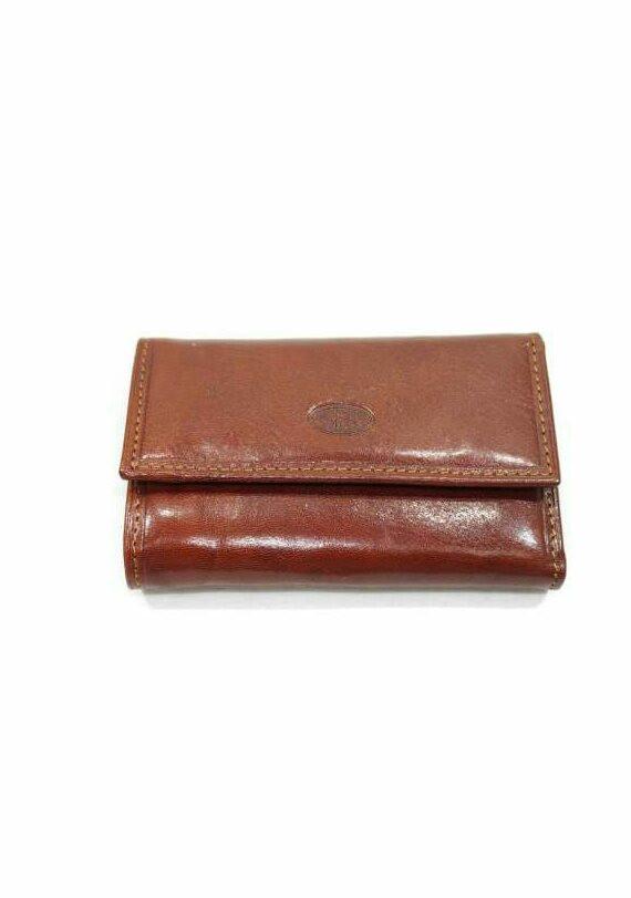 Ключница-кошелек Катана кожаная рыжая 353026.
