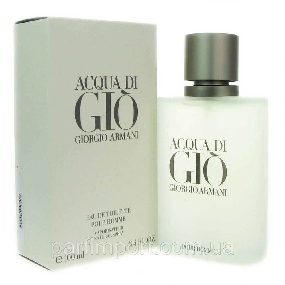 Giorgio Armani Aqua Di Gio Pour Homme EDT 100 ml туалетна вода чоловіча (оригінал оригінал Італія)