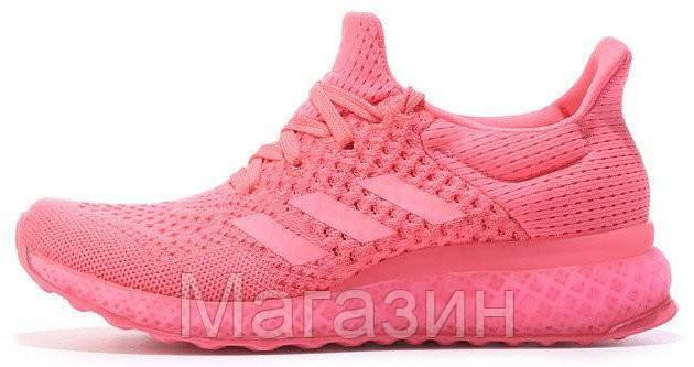 Женские кроссовки Adidas Ultra Boost FutureCraft 3D Pink Адидас Ультра Буст розовые