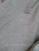 "Штора лен ""Однотонный бежево-серый"", фото 3"