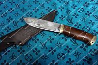 Нож для охотника  разделочный Кабан, сделано в Украине +чехол из кожи