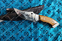Нож ручной работы Носорог   65X13,кожаные ножны в подарок