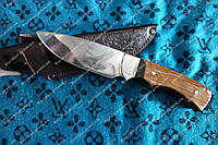 Нож охотничий ручной работы Орел ,65X13 сталь +чехол из телячьей кожи