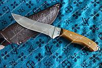 Нож охотничий ручной работы Робинзон (кожаный чехол)