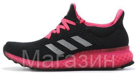 Женские кроссовки Adidas Ultra Boost FutureCraft 3D Black Pink Адидас Ультра Буст черные, фото 2