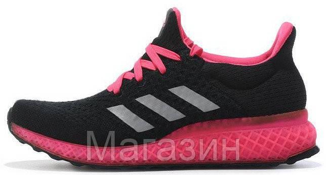 Женские кроссовки Adidas Ultra Boost FutureCraft 3D Black Pink Адидас Ультра Буст черные