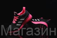 Женские кроссовки Adidas Ultra Boost FutureCraft 3D Black Pink Адидас Ультра Буст черные, фото 3