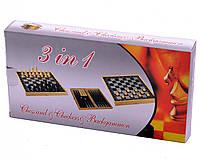 Игра настольная 3 в 1 Нарды, Шахматы, Шашки 30 x 30 см