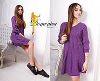 Стильное вязаное мини платье ( 5 цветов )