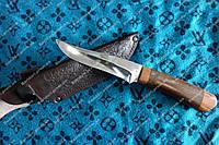 Нож охотничий  рукоять дерево Венге+ кожаный чехол