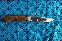 Нож охотничий Трофей с рукоятью из дерева Венге, с кожаным чехлом