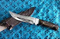 Нож охотничий Хантер ручной работы в комплекте кожаный чехол и экспертиза