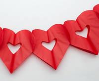 Гирлянда Сердечки красные