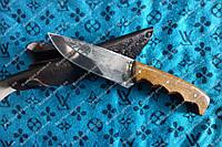 Нож охотничий ручной работы Бизон сталь 65Х13 + кожаный чехол