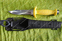 Нож для дайвинга ,длина 275мм,резиновый чехол