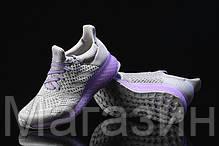 Женские кроссовкиAdidas Ultra Boost FutureCraft 3D Grey Purple Адидас Ультра Буст серые, фото 3