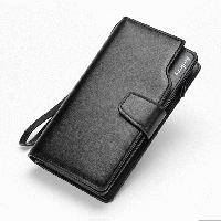 Мужской клатч портмоне Baellerry Active на кнопке (коричневый)