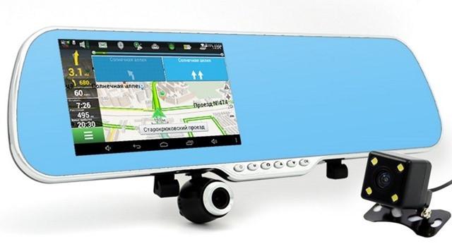 GPS навигатор, регистратор в виде зеркала заднего вида Marshal MX10 10 в 1 (Phisung MX 2)