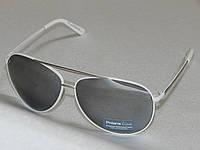 Мужские солнцезащитные очки, зеркальные, белая оправа 780172, фото 1