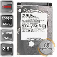 """Жесткий диск 2.5"""" 500Gb Toshiba MQ01ABF050M (8Mb/5400/SATAIII)"""