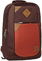 Рюкзак плоский (Коричневый, кирпичный)