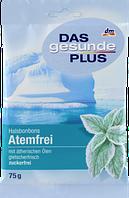 Цукерки м'ятні DAS gesunde PLUS Halsbonbons Atemfrei zuckerfrei, 75 g